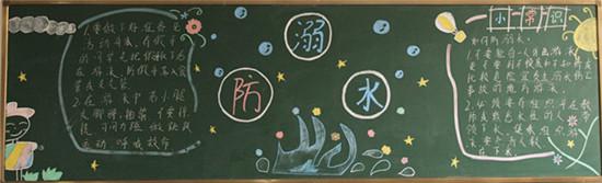 我校防溺水专题主题优秀黑板报,手抄报,主题班会